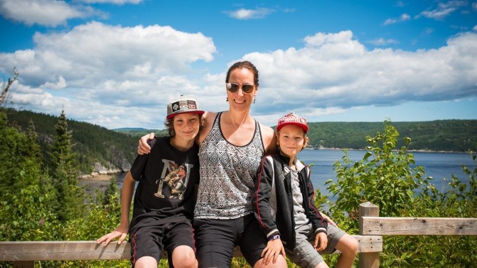 Famille monoparentale en vacances